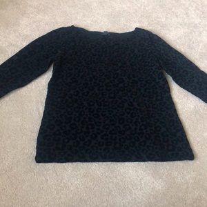 Ann Taylor black leopard print top. NWT